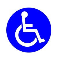 Handicap Signs Stickers Decal Symbol 4 Pack 6x6 Inch Ada Compliant Disable Wheelchair Sign Disability Sticker Premium Self Adhesive Vinyl Laminated Indoor Outdoor Wish