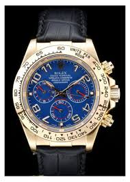 replica rolex daytona gold case blue