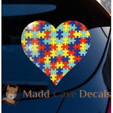 Autism Heart Decal