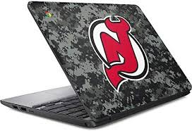Amazon Com Skinit Decal Laptop Skin Compatible With Chromebook 11 G5 Officially Licensed Nhl New Jersey Devils Camo Design Electronics