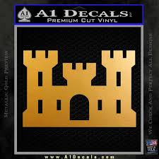 Collectibles Transportation Corps Of Engineers Castle Vinyl Window Sticker Decal Transportation Collectibles Zsco Iq