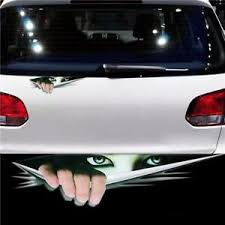 Peeking Monster Scary Eyes Decal Sticker Funny Vinyl Car Window Bumper Truck Q Ebay