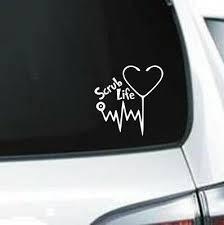 Scrub Life Vinyl Decal Car Bumper Sticker Wall Laptop Window Doctor Rn Medical