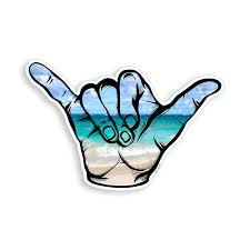 Hang Loose Shaka Uv Resistant Surfing Surf Sticker Decal Hawaii For Sale Online Ebay