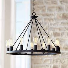 lacey black wagon wheel chandelier 28