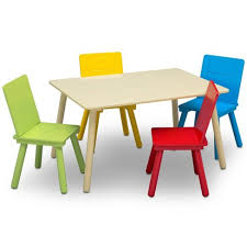 Delta Children Kids Table And Chair Set 4 Chairs Included Natural Primary Target