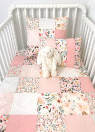 patchwork baby blanket fl crib bedding