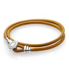 pandora moments double leather bracelet
