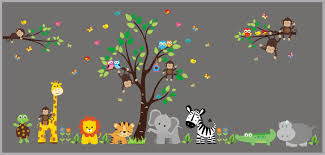 Removable Wall Stickers Nursery Wall Decor Animal Wall Decals Nurserydecals4you