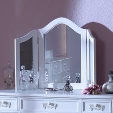 antiguo blanco triple de tocador espejo