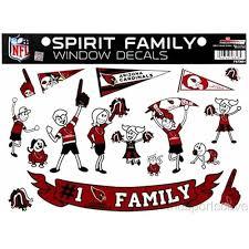 Arizona Cardinals Set Of 17 Spirit Family Window Decals At Sticker Shoppe