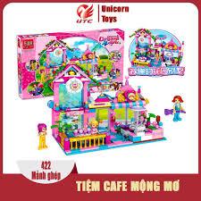 Đồ chơi trẻ em thông minh xếp hình lego cho bé gái Tiệm cafe mộng mơ, 420  mảnh ghép, nhựa ABS an toàn cho trẻ chỉ 240.000₫
