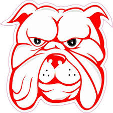 4in X 4in White And Red Bulldog Sticker Vinyl Vehicle Window Decal Stickers Stickertalk