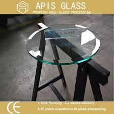 china round dining table tempered glass