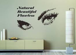 Eyelashes Eye Wall Sticker Girls Eyes Quote Wall Decal Beauty Salon Quote Se008 Ebay