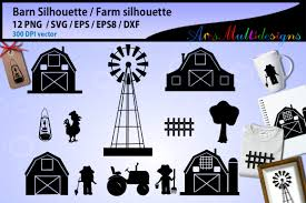 Barn Silhouette Graphic By Arcs Multidesigns Creative Fabrica
