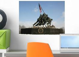 Amazon Com Wallmonkeys Iwo Jima Memorial With Snow Wall Decal Peel And Stick Graphic Wm149535 18 In W X 14 In H Home Kitchen