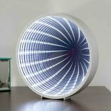 modern round led infinity mirror
