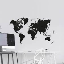 Shop Black Map Wall Decal Overstock 29901281