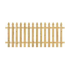 Unbranded 3 1 2 Ft X 8 Ft Pressure Treated Pine Spaced French Gothic Fence Panel With 2 In X 4 In Backer Rails 400970 The Home Depot In 2020 Fence Panels Wood Fence Cedar Fence