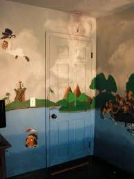 My Son S Peter Pan Nursery Peter Pan Nursery Disney Mural Neverland Nursery