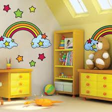 Kids Room Rainbow Mural Wonderful Idea For Playroom Or Bedroom