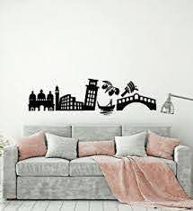Vinyl Wall Decal Italy Country Attractions Sights Traveling Stickers 3459ig Ebay