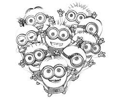 Love The Minion Coloring Page Kleurplaten Mandala Kleurplaten