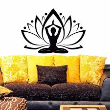 Poomoo Yoga Lotus Wall Decal Vinyl Sticker Yoga Flower Boho Indian Pattern Wall Decals Bedroom Dorm Yoga Studio Om Wall Art Home Wall Decals Bedroom Lotus Wall Decalom Wall Aliexpress