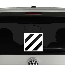 Third Infantry Division Insignia Badge United States Army Vinyl Decal