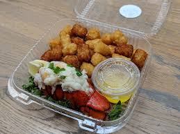 Lobster and tots from Lobster & Beer ...