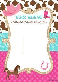 Free Cowgirl Birthday Invitations Con Imagenes Fiestas De