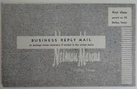 1961 unused neiman marcus charge