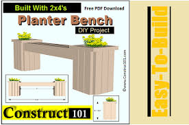 planter bench plans built with 2 4 s