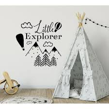 Shop Little Explorer Wall Decal Nursery Decal Woodland Nursery Decor Overstock 31997607