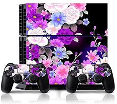 Ps4 Flower Rose Purple Whole Body Vinyl Skin Sticker Decal Cover For Ps4 Playstation 4 System Console And Controllers Ci Yu Online Faceplates Protectors Skins