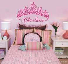 Baby Girl Crown Vinyl Art Wall Sticker Princess Personalized Nursery Custom Girls Name Art Bedroom Decorative Wall Decal 40 58 Cm Large Wall Decals Cheap Large Wall Decals For Kids From Onlinegame 10 76