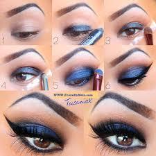 makeup tutorial using blue eyeshadow