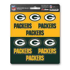 Team Promark Green Bay Packers 12 Pack Decal Set In The Exterior Car Accessories Department At Lowes Com