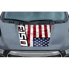 Car Gear Ford F 150 Truck Hood Wrap Off Road Graphic Sticker Decal 2015 2017 F 150 Usa Flag
