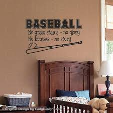 Sports Baseball Wall Decal Boys Room Decor Childrens Decor Etsy