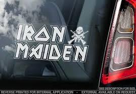 Iron Maiden Killers Album Eddie Text Logo Vinyl Decal Sticker Car Truck Window Stickers Home Garden Home Garden Stickers