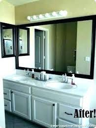 beautiful bathroom mirror wood trim
