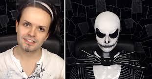 this diy jack skellington makeup
