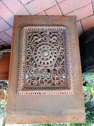 vintage antique cast iron fireplace