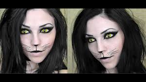 y black cat halloween makeup you