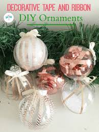 dress up plain glass ornaments