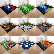 3d Sports Basketball Carpet Children Room Decoration Area Rugs Soccer Play Mat Boys Birthday Gift Living Room Rugs Carpets