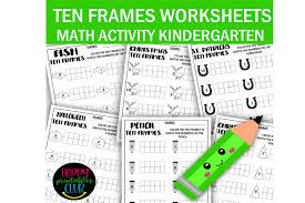 ten frames math worksheets kindergarten