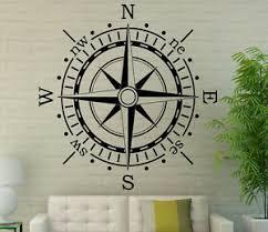 Nautical Compass Wall Decal Vinyl Sticker Navigation Interior Art Decor 3coo2 712395915318 Ebay